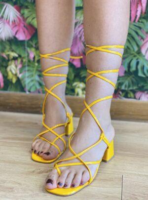 Sandalo midi giallo