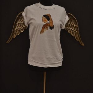 """T-Shirt """"Strong like a woman"""" in cotone personalizzabile dipinta a mano"""