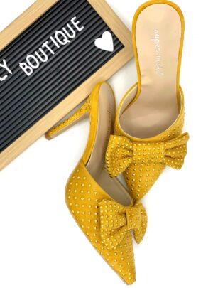 Sabot con fiocco giallo