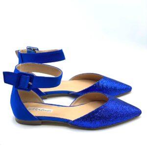 Ballerina con glitter blu