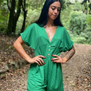 Tutina in lino verde