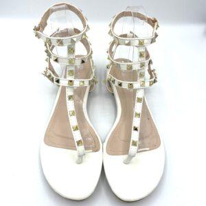 Sandalo con borchie white