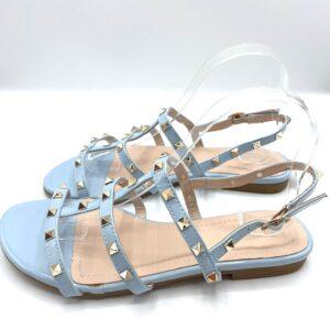Sandalo con borchie celeste