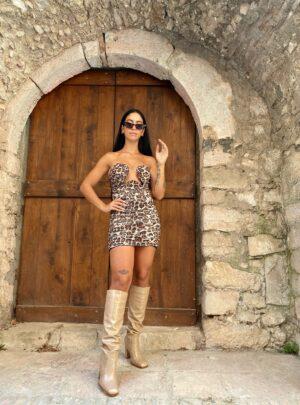Abito Giusy leopardato