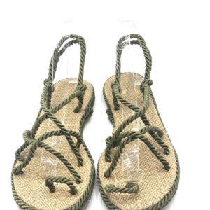 Sandalo in corda verde