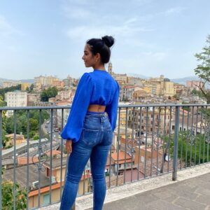 Jeans a vita altissima denim