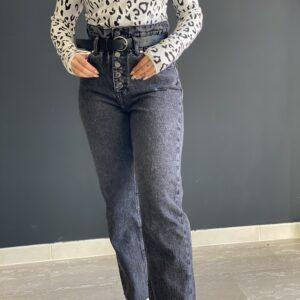 Jeans a caramella con bottoni