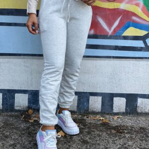 Pantalone di tuta felpato grigio