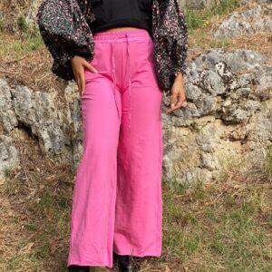 Pantalone a palazzo rosa