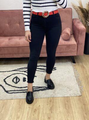 Jeans a vita alta nero