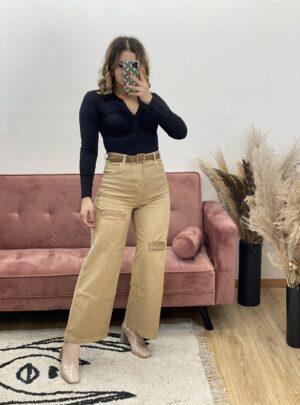 Jeans anni 80 beige