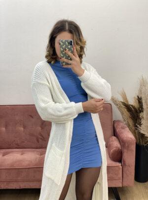 Cardigan lungo bianco