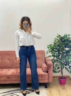 Jeans anni 80 denim scuro
