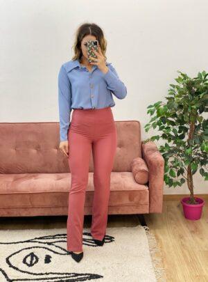 Pantalone con spacchi Fragola