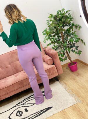 Pantalone con spacchi lilla