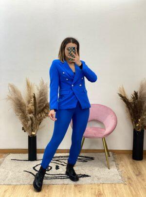 Pantalone a vita alta blu